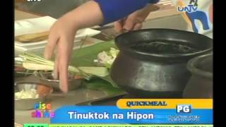 Tinuktok Na Hipon ((shrimp Mixture Wrapped In Taro Leaves)
