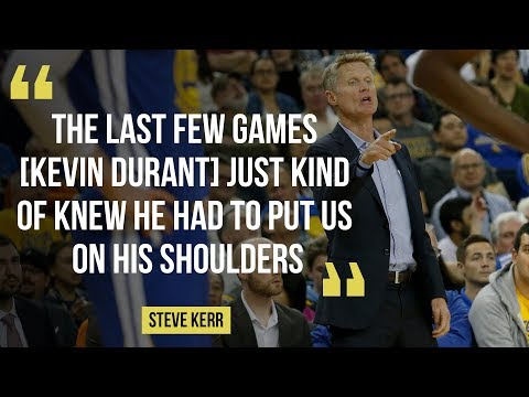 "Warriors Coach Steve Kerr on Kevin Durant's ""amazing"" game against Orlando Magic"