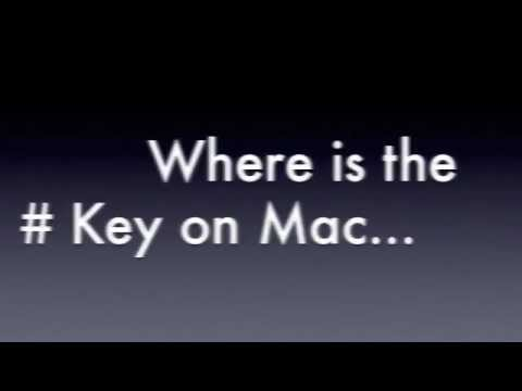 How to use hash key on macbook pro
