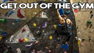 Nov 21   GETTING OUT OF THE GYM   ROCK CLIMBING