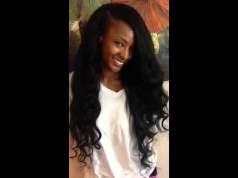 Deep Side Part Sew In Weave - YouTube