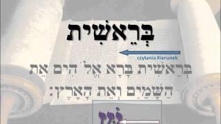 Hebrajski - 01 - nauka czytania Bereszit 1,1