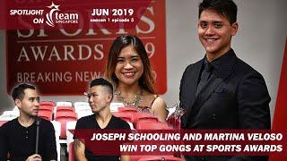 Joseph Schooling and Martina Veloso win big at Singapore Sport Awards   Spotlight on TeamSG [s1 ep5]