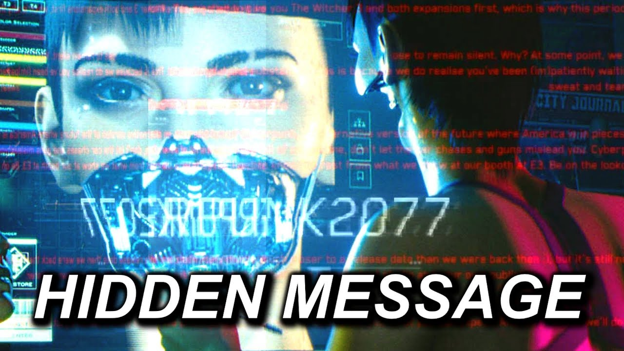 Cyberpunk 2077 - MICROTRANSACTIONS? ARE YOU NUTS? - Hidden Message in the E3 Trailer - YouTube