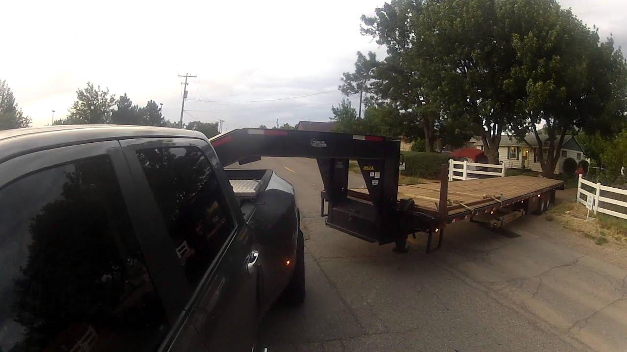 Dodge Cummins 3500 And 40 Ft Gooseneck Ally Dock Youtube