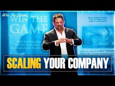 Win The Storm Conference - Scaling Your Company