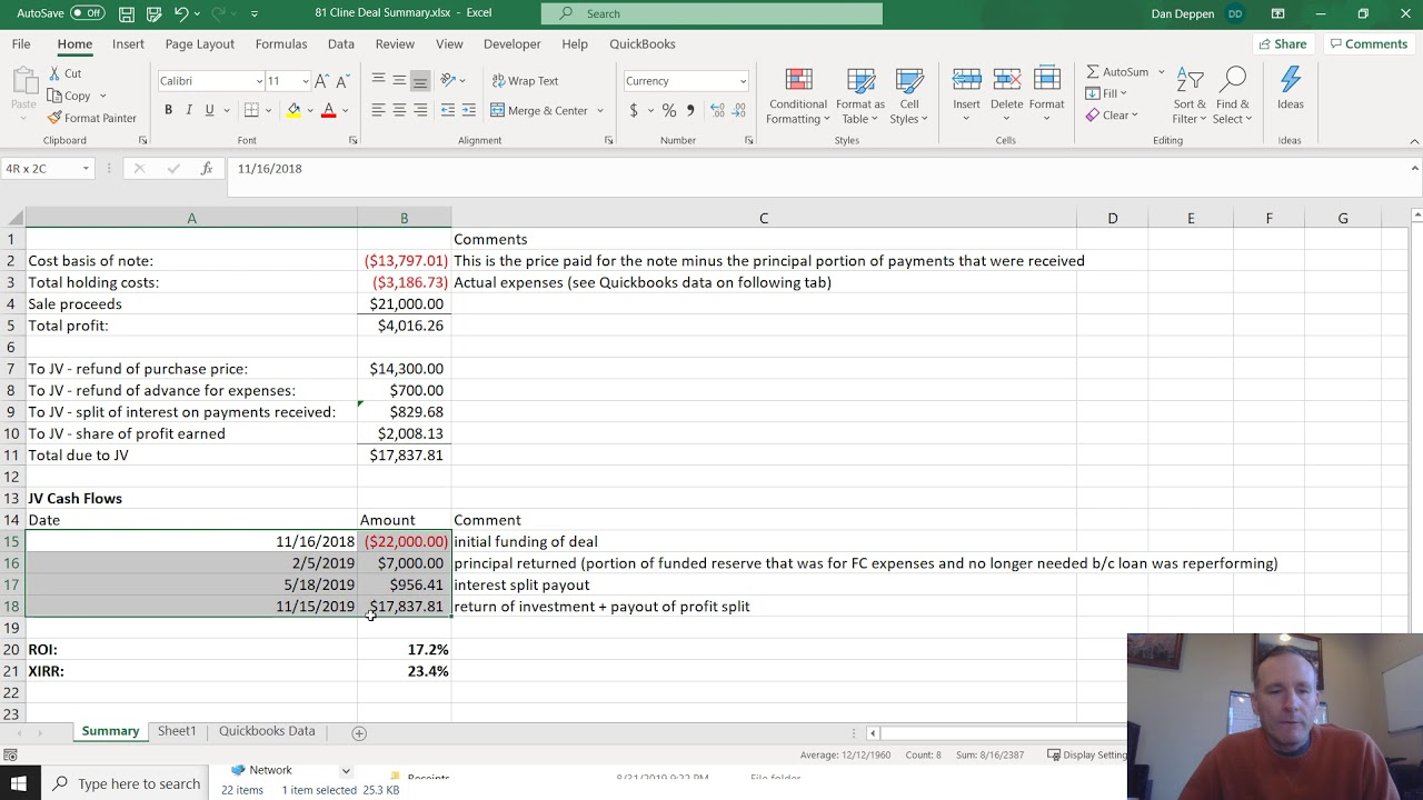Using XIRR in Excel for Annualized Returns