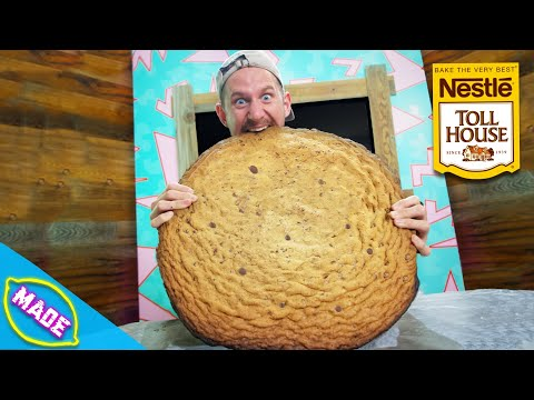 We Made a GIANT Chocolate Chip Cookie!!