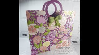 Linda's Tote with Circular Handles - Sweet Soiree DSP by Stampin' Up!