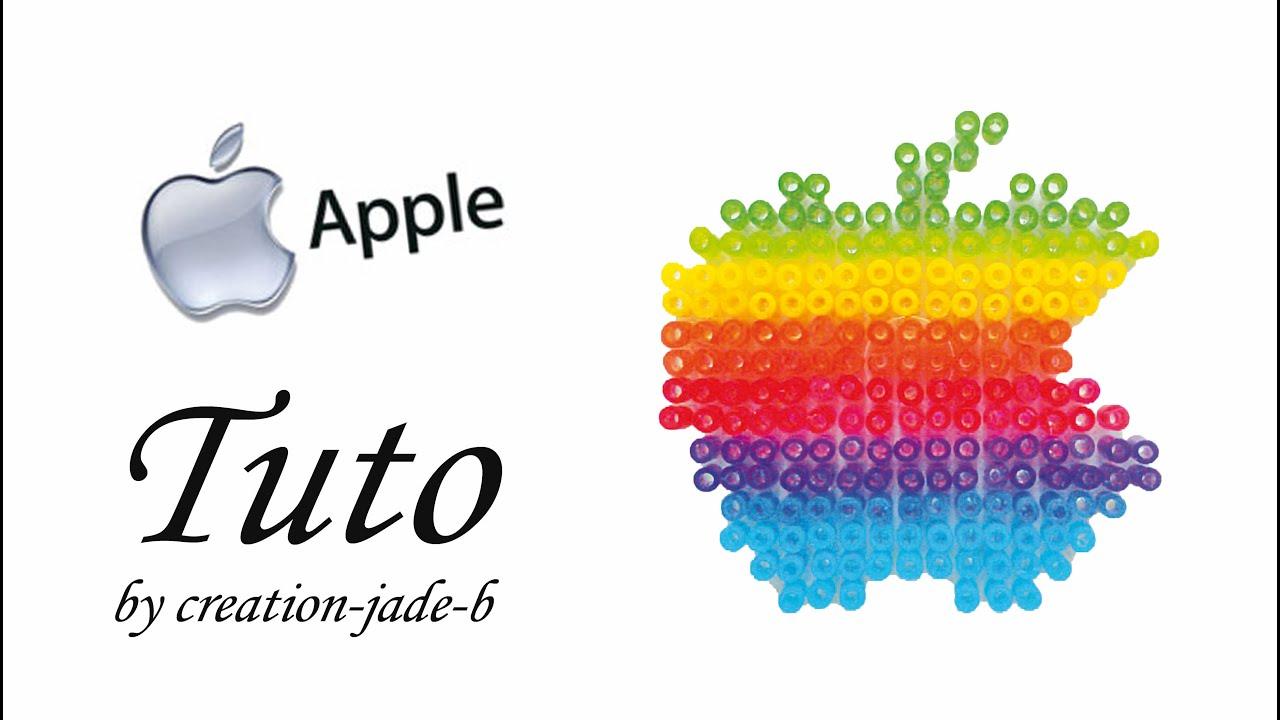 Tuto Perles 224 Repasser Hama Logo Apple Youtube