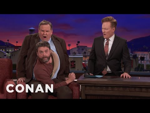 Zach Galifianakis Comes Out Of Andy   CONAN on TBS