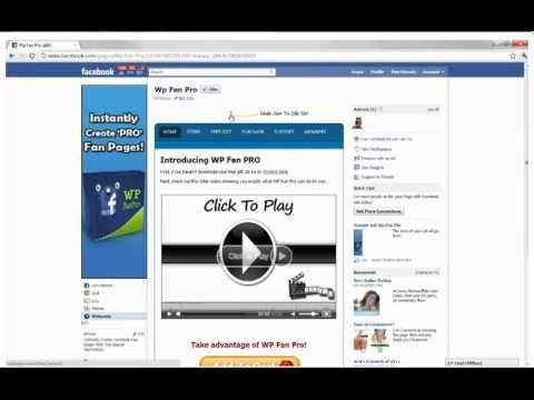 How to create a fan page using WordPress. Wordpress Facebook Fan ...