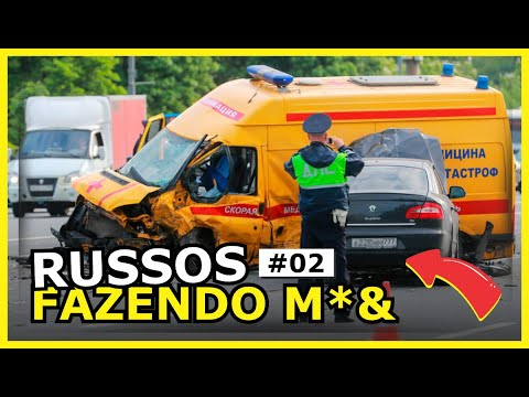 Russos Fazendo M3rd@ no trânsito  - Os videos mais engraçados da semana