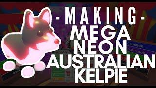 Making a Mega Neon Australian Kelpie in Adopt Me! Roblox