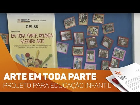 Projeto leva arte para alunos de CEI - TV SOROCABA/SBT