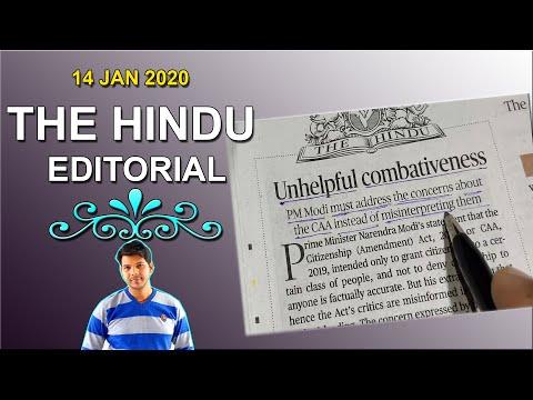 14 JAN 2020 THE HINDU EDITORIAL
