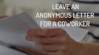 #HappyActs: Leave An Anonymous Letter for a Coworker