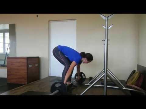 Skeleton sport. Training. Snatch - 40 kg! Dolzhkova Yuliia (Ukraine)