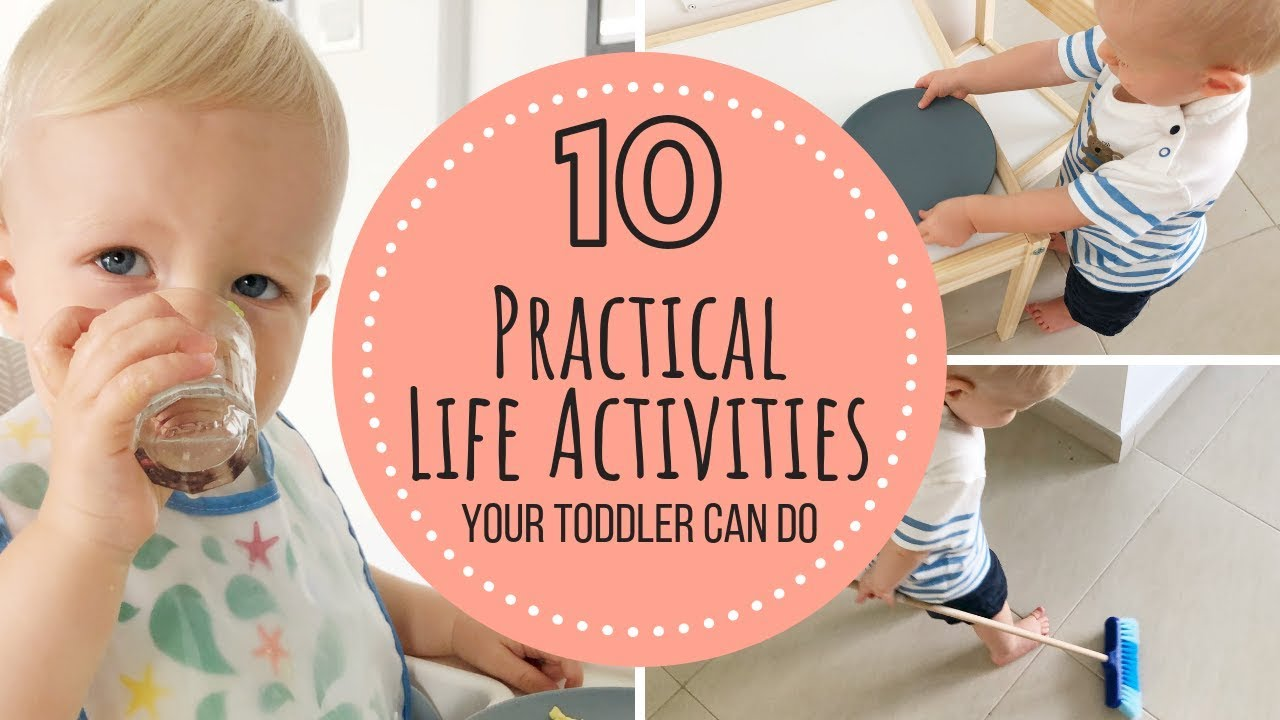 Montessori Practical Life Activities Toddler 12 18 Months Youtube