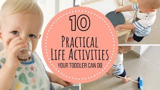 Montessori Practical Life Activities | Toddler 12-18 Months