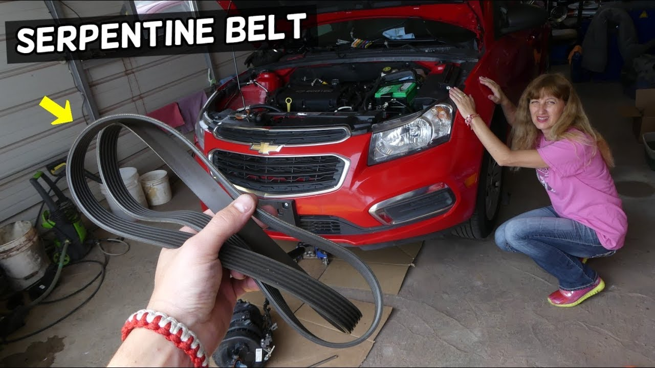 Chevrolet Cruze Serpentine Belt Removal Replacement Diagram Chevy Sonic Belt Youtube