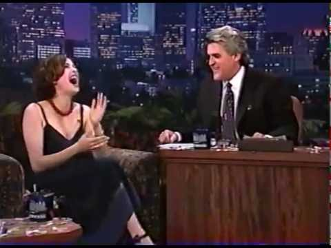 TERI HATCHER HAS FUN WITH JAY LENO