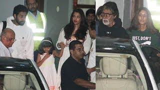 Aishwarya rai with full bachchan family back from amitabh bachchan's birthday bash