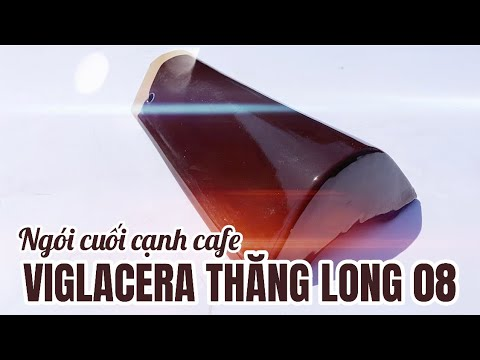 Ngói Cuối Rìa Tráng Men Màu Cafe 08 Viglacera Thăng Long   Ngói Cuối Cạnh Tráng Men Viglacera