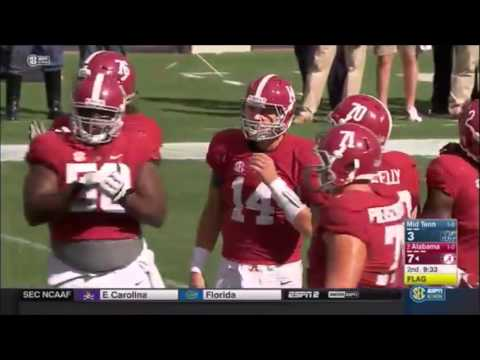 2015 Middle Tennessee State vs. #2 Alabama Highlights