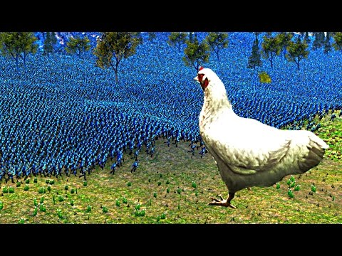 CHICKEN vs LARGEST UEB ARMY EVER!? (Ultimate Epic Battle Simulator)