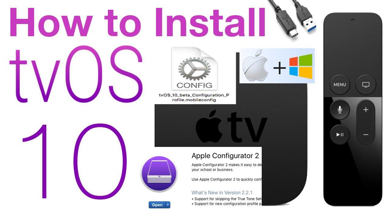 How to Update ATV 4 to tvOS 10 Beta Profile w Links no developer Account