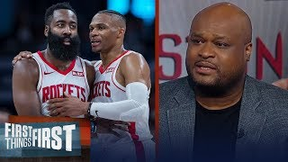 Harden & Westbrook make the Rockets a tough playoff team — Antoine Walker | NBA | FIRST THINGS FIRST