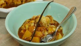 Recette du crumble pommes caramel à la crème vanillé