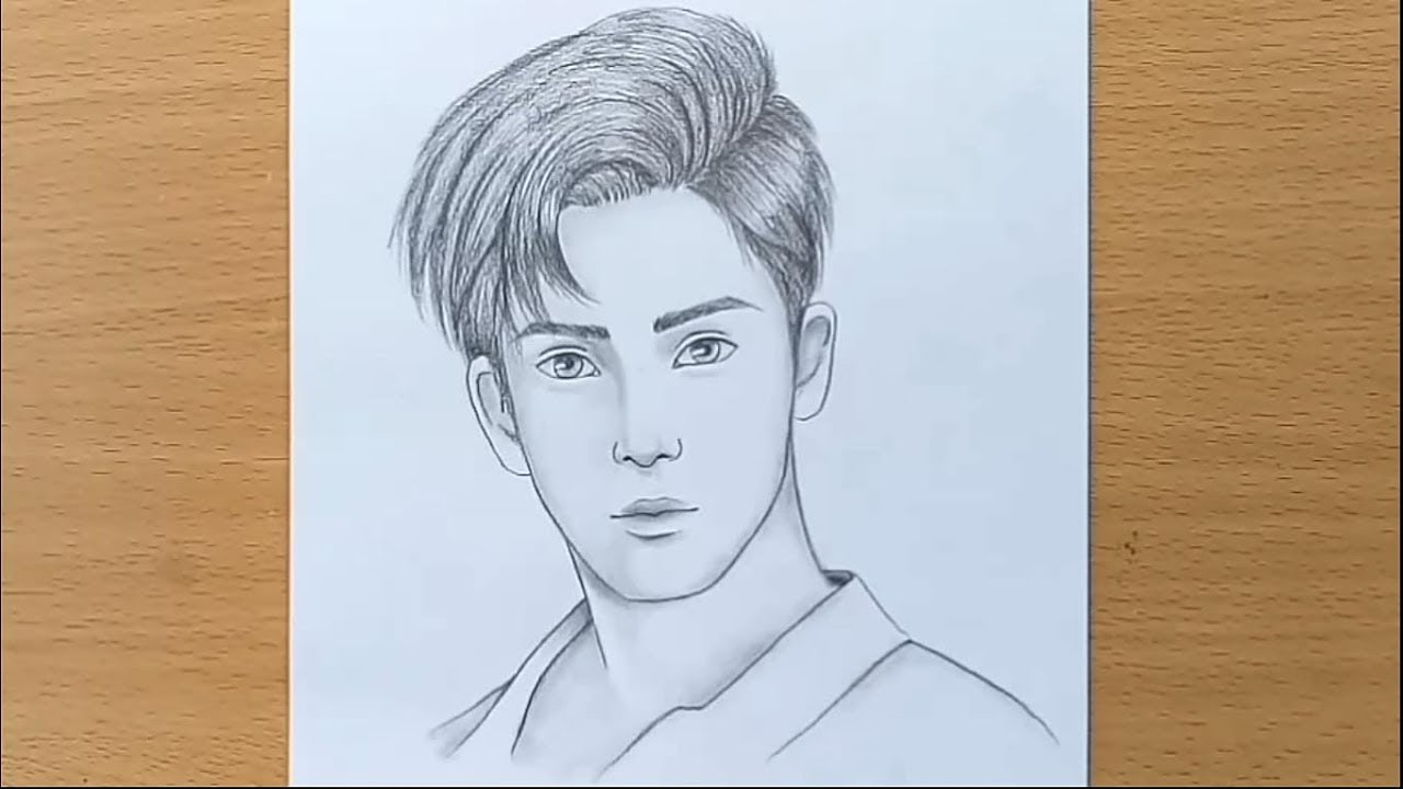 Boy face pencil sketch how to draw a boy step by step