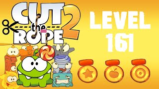 Cut the Rope 2 - Level 161 (3 stars, 59 fruits, don
