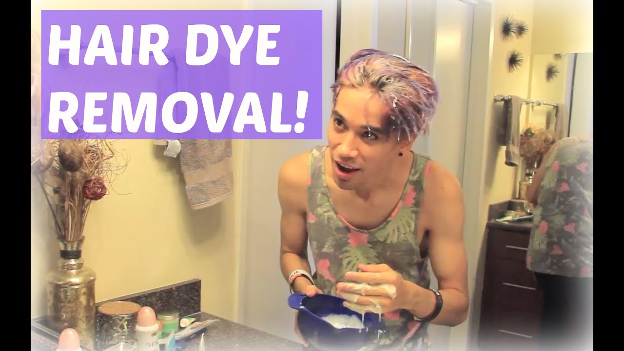 removing hair dye with baking