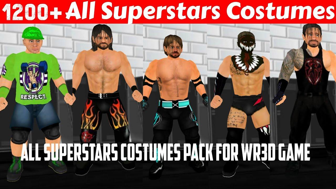 How To Download All WWE Costumes Pack For WWE 2K19 Mod WR3D Wrestling Revolution 3D Game  sc 1 st  YouTube & How To Download All WWE Costumes Pack For WWE 2K19 Mod WR3D ...