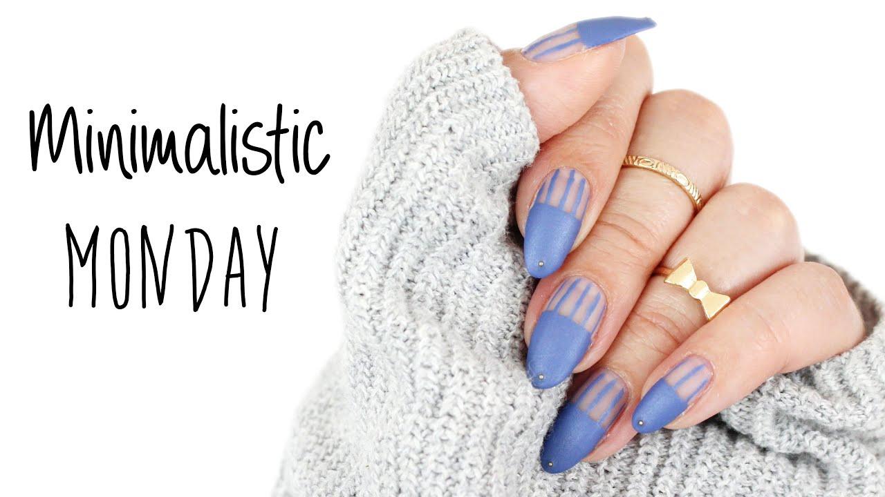 Minimalistic Monday No.10 | Cut Out Stripes Nail Art ♡ - YouTube