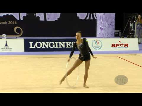 RIZATDINOVA Ganna (UKR) - 2014 Rhythmic Worlds, Izmir (TUR) - Qualifications Hoop