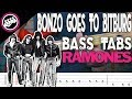 The Ramones - Bonzo Goes To Bitburg | Bass Cover With Tabs in the Video