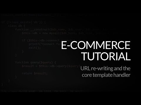 PHP E-commerce Script: URL Re-writing and the Core Template Handler