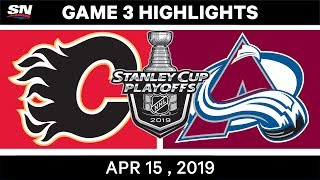 NHL Highlights | Flames vs Avalanche, Game 3 – April 15, 2019