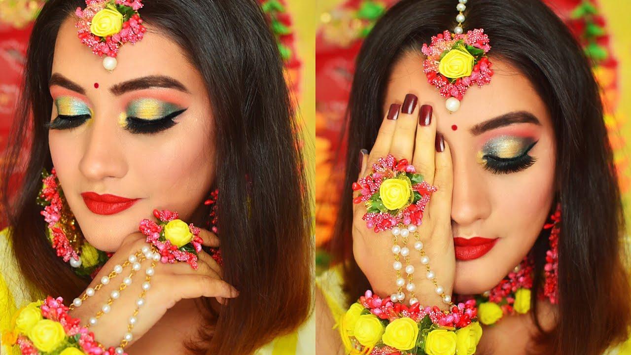 Indian Bridal Makeup Tutorial Mehendi Function