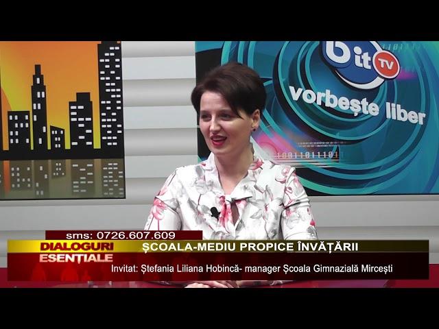 DIALOGURI ESENȚIALE: ȘCOALA-MEDIU PROPICE ÎNVĂȚĂRII
