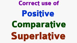 Adjectives | Positive degree | Comparative degree | Superlative degree part 190.