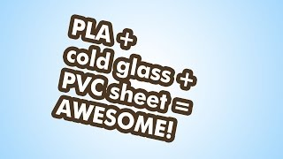 PLA print on cold glass bed with Con-Tact (PVC) sheet