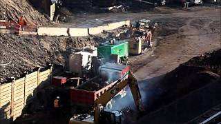 Barclays Arena Rail yard excessive dump truck exhaust