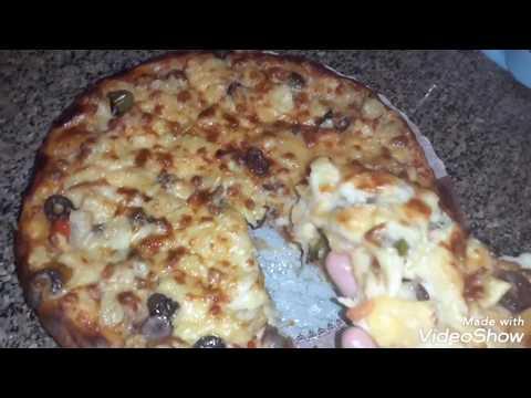 صورة  طريقة عمل البيتزا طريقه عمل البيتزا طريقه المحلات واحلى خش اتفرجوا بسرعه😋💪 طريقة عمل البيتزا من يوتيوب