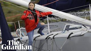 Greta Thunberg sets sail on zero-carbon Atlantic voyage